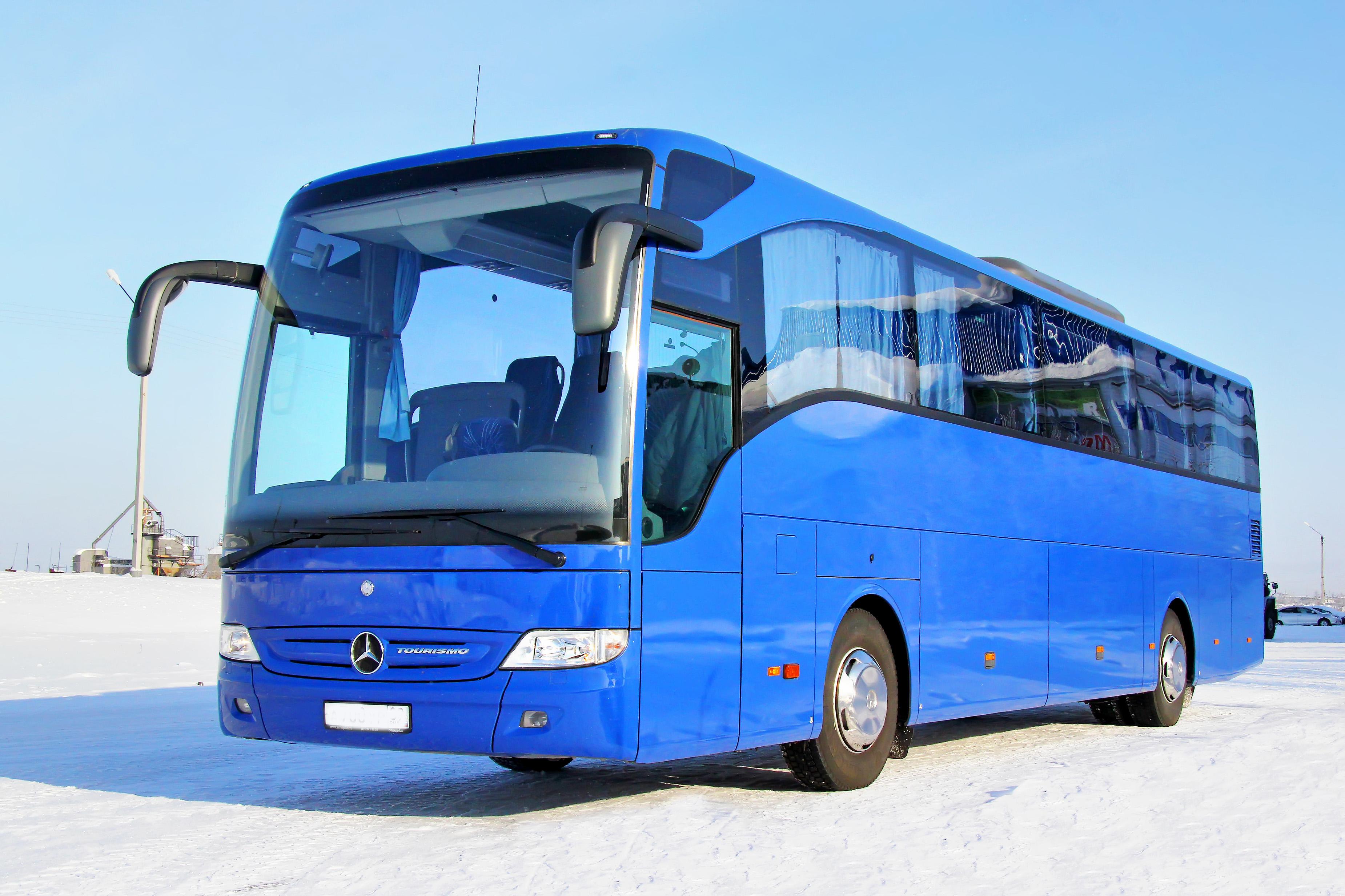 Std Fleet Blue Coach on Snow